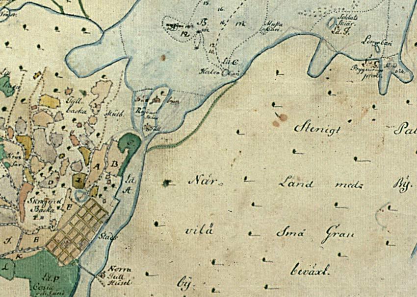 Kokkola 1763 66 J Cajanuksen Kartta Kokkolan Kaupungin Arkisto